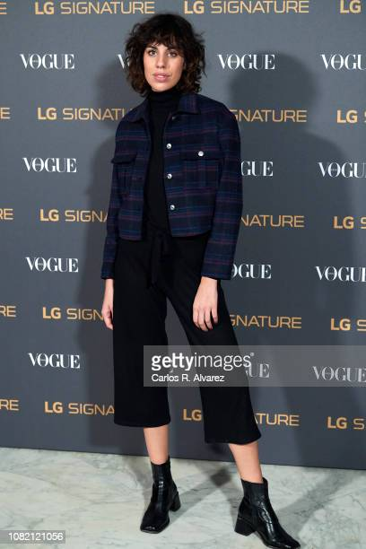 Actress Gemma Galan attends 'Vogue LG Signature' photocall at Carlos Maria de Castro Palace on December 13 2018 in Madrid Spain
