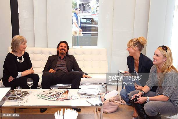 Actress Gemma Jones actor Josh Brolin actress Lucy Punch and guest attend Day 2 at the Variety Studio at Holt Renfrewduring the 35th Toronto...