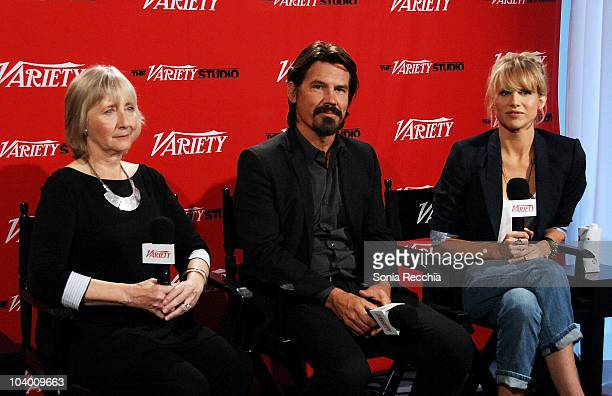 Actress Gemma Jones actor Josh Brolin and actress Lucy Punch attend Day 2 at the Variety Studio at Holt Renfrew during the 35th Toronto International...