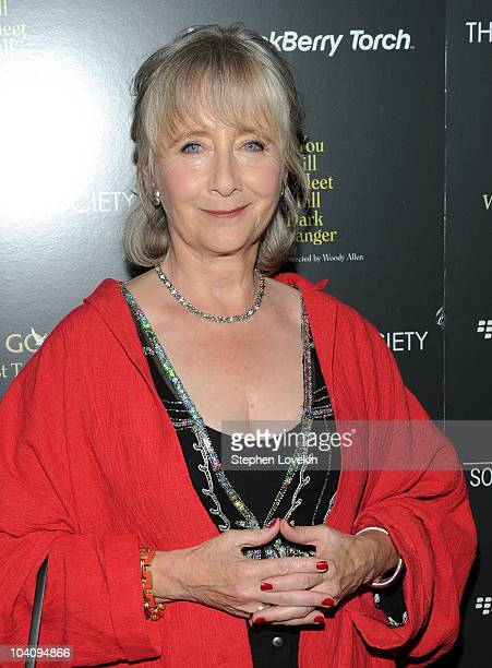 Actress Gemma Jones attends the screening of You Will Meet a Tall Dark Stranger hosted by The Cinema Society and BlackBerry Torch at MOMA on...
