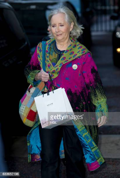 Actress Gemma Jones seen at the ITV Studios after appearing on the Good Morning Britain show sighting on February 3 2017 in London England