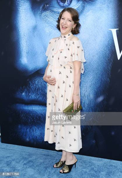 Actress Gemma Whelan attends the season 7 premiere of Game Of Thrones at Walt Disney Concert Hall on July 12 2017 in Los Angeles California