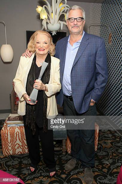 Actress Gena Rowlands and Nick Cassavetes attend the 17th Annual Savannah Film Festival on October 30, 2014 in Savannah, Georgia.