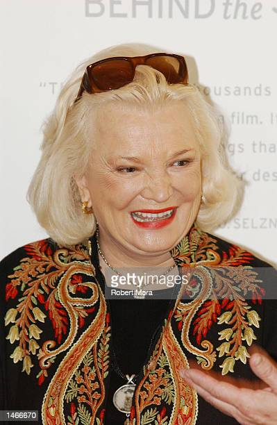 Actress Gena Rowlands attends the unveiling of the new 'American Filmmaking Behind the Scenes' postage stamp at Fairbanks Center for Motion Picture...