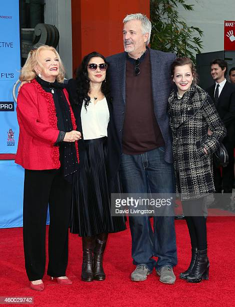 Actress Gena Rowlands daughter Xan Cassavetes son director Nick Cassavetes and granddaughter Alexandra Cassavetes attend Gena Rowlands immortalized...