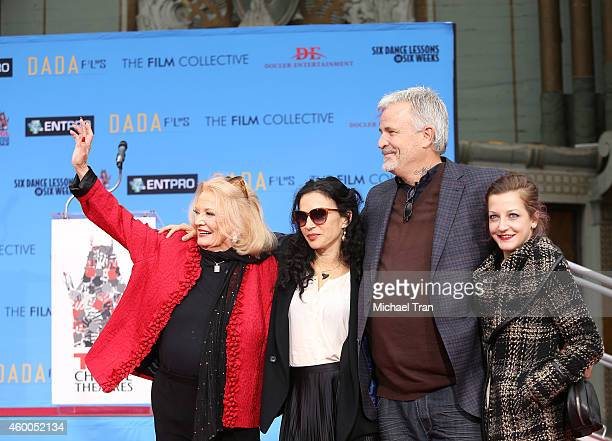 Actress Gena Rowlands daughter Xan Cassavetes son director Nick Cassavetes and granddaughter Alexandra Cassavetes attend the hand/footprint ceremony...