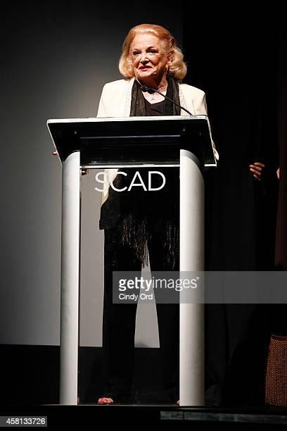 Actress Gena Rowlands speaks at the 17th Annual Savannah Film Festival on October 30, 2014 in Savannah, Georgia.