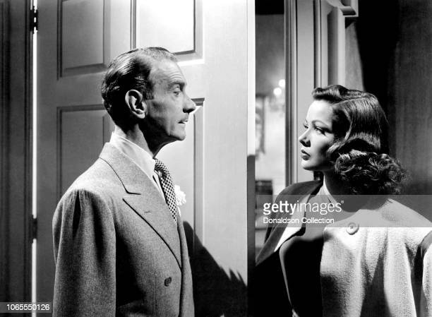 Actress Gene Tierney and Clifton Webb in a scene from the movie Laura