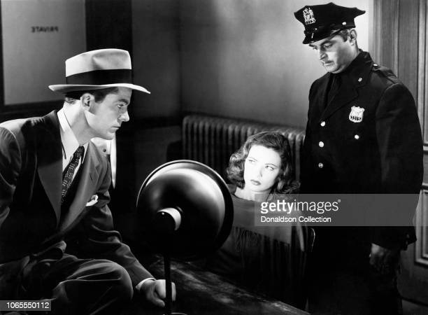 Actress Gene Tierney and Dana Andrews in a scene from the movie Laura