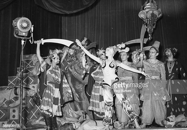 Actress Gene Tierney filming the Scheherazade Ballet scene for the film 'Never Let Me Go' at Royal Festival Hall London August 20th 1952