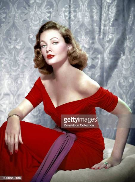 Actress Gene Tierney in a scene from the movie On the Riviera