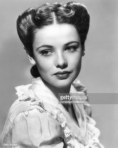 Actress Gene Tierney in a scene from the movie The Return of Frank James