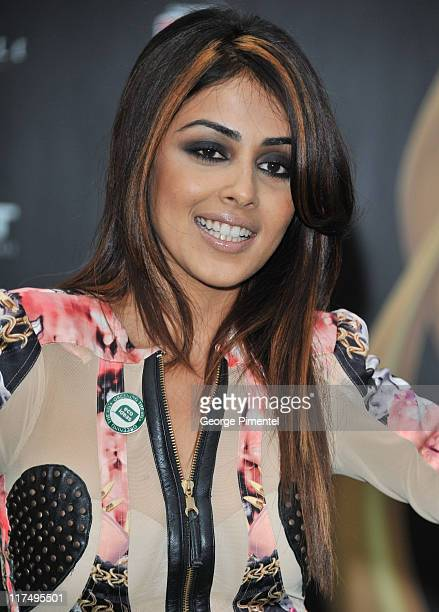 Actress Genelia D'Souza attends the MAC Cosmetics Sponsored IIFAS Fashion Rocks Party at the Heritage Court Exhibition Place on June 24 2011 in...
