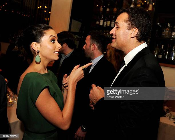 """Actress Genesis Rodriguez and producer Scott Stuber pose at the after party for the premiere of Universal Pictures' """"Identity Thief"""" at Napa Valley..."""