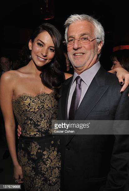 Actress Genesis Rodriguez and Summit Entertainment cochair Rob Friedman attend the after party for the Los Angeles premiere of Man on a Ledge at...