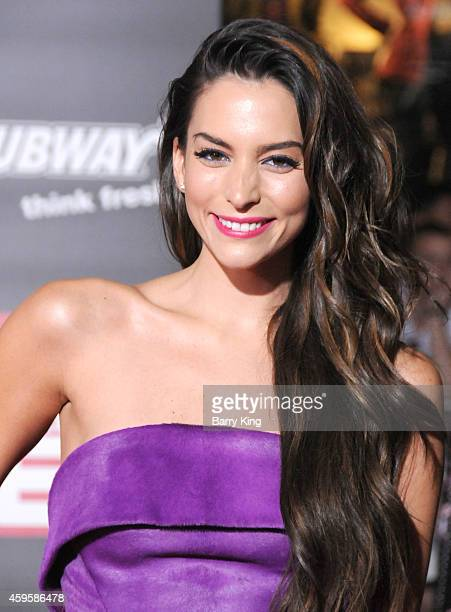 Actress Genesis Rodriguez arrives at the Los Angeles premiere of 'Big Hero 6' held at the El Capitan Theatre on November 4 2014 in Hollywood...