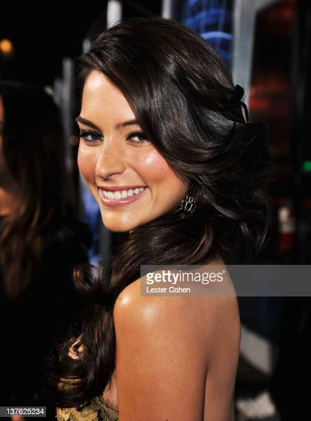 Actress Genesis Rodriguez arrives at the Los Angeles premiere of Man on a Ledge at Grauman's Chinese Theatre on January 23 2012 in Hollywood...