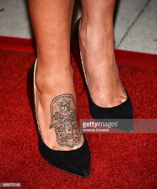 Actress Genesis Rodriguez arrives at the Los Angeles premiere of Tusk at the Vista Theatre on September 16 2014 in Los Angeles California