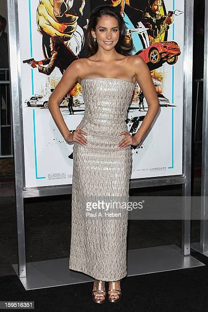 Actress Genesis Rodriguez arrives at the premiere of Lionsgate Films' The Last Stand held at Grauman's Chinese Theatre on January 14 2013 in...