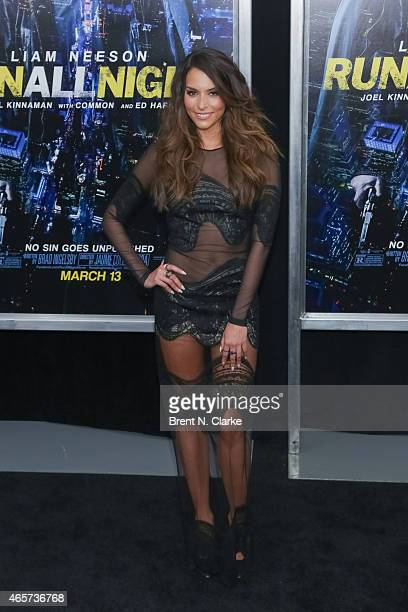 Actress Genesis Rodriguez arrives for the Run All Night New York Premiere at AMC Lincoln Square Theater on March 9 2015 in New York City