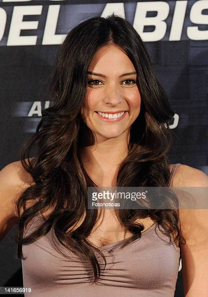 Actress Genesis Rodriguez attends a photocall for 'Al Borde del Abismo' at ME Hotel on March 21 2012 in Madrid Spain