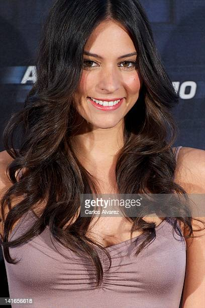 Actress Genesis Rodriguez attends Man on a Ledge photocall at Hotel ME on March 21 2012 in Madrid Spain