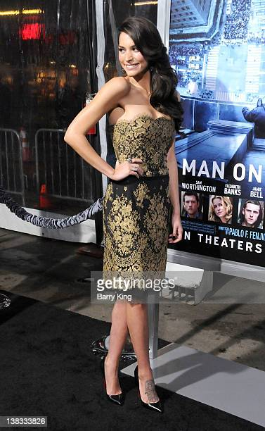 Actress Genesis Rodriguez attends the premiere of Man On A Ledge at Grauman's Chinese Theatre on January 23 2012 in Hollywood California