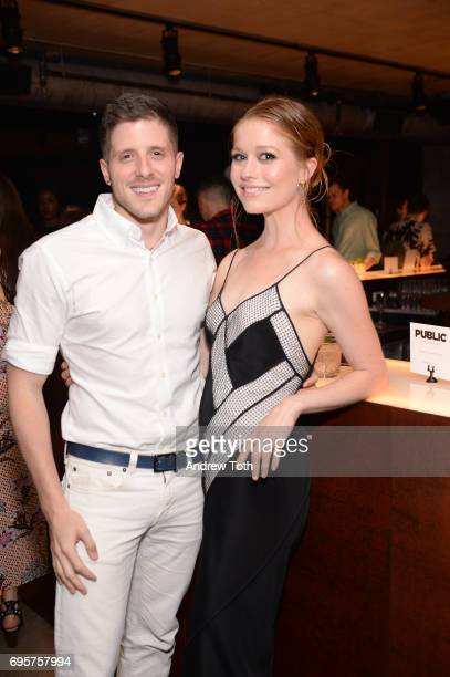 Actress Genevieve Angelson and guest attend as ELLE hosts Women In Comedy event with July Cover Star Kate McKinnon at Public Arts at Public on June...