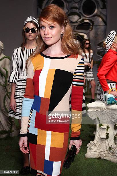 Actress Genevieve Angelson attends the Alice Olivia by Stacey Bendet Spring/Summer 2017 Presentation during New York Fashion Week September 2016 at...