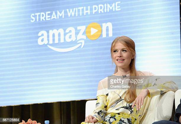 Actress Genevieve Angelson attends the Amazon 2016 Summer TCA Press Tour at The Beverly Hilton Hotel on August 7 2016 in Beverly Hills California