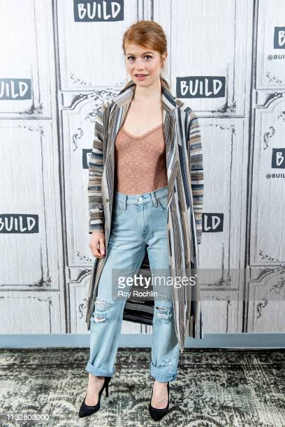 Actress Genevieve Angelson discusses her show The Flack and her play The Cake with the Build Series at Build Studio on February 28 2019 in New York...