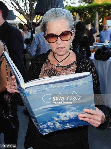 Actress Genevieve Bujold attends the celebration for Cirque De Soleil Founder Guy Laliberte's new publication Gaia at the SLS Hotel at Beverly Hills...