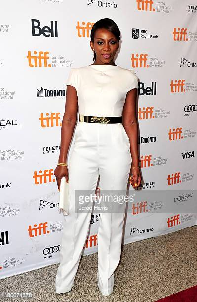 Actress Genevieve Nnaji arrives at the Half Of A Yellow Sun Premiere during the 2013 Toronto International Film Festival at the Winter Garden Theatre...