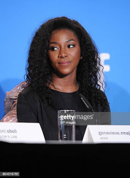 Actress Genevieve Nnaji speaks onstage at the 'City to City' press conference during the 2016 Toronto International Film Festival at TIFF Bell...