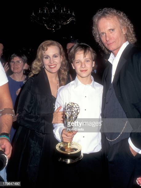 Actress Genie Francis actor Jonathan Jackson and actor Anthony Geary attend the 22nd Annual Daytime Emmy Awards After Party Hosted by 'General...