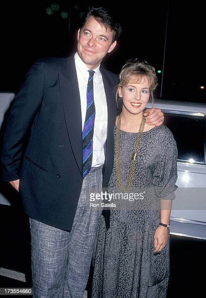 Actress Genie Francis and boyfriend actor Jonathan Frakes attend the ABC Television Midseason Affiliates Party on January 6 1988 at Century Plaza...