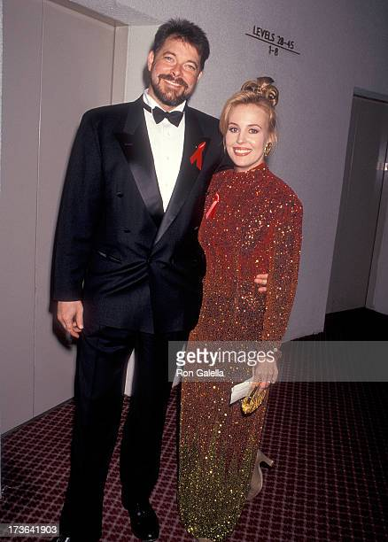 Actress Genie Francis and husband actor Jonathan Frakes attend the 20th Annual Daytime Emmy Awards on May 26 1993 at the Marriott Marquis Hotel in...