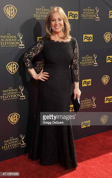 Actress Genie Francis arrives at the 42nd Annual Daytime Emmy Awards at Warner Bros Studios on April 26 2015 in Burbank California