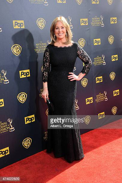 Actress Genie Francis arrives for The 42nd Annual Daytime Emmy Awards held at Warner Bros Studios on April 26 2015 in Burbank California