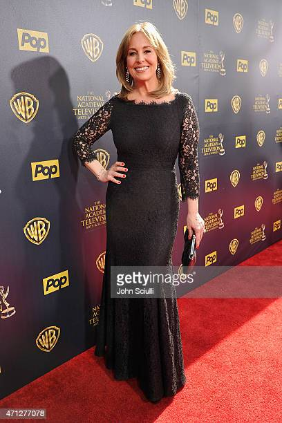 Actress Genie Francis attends The 42nd Annual Daytime Emmy Awards at Warner Bros Studios on April 26 2015 in Burbank California