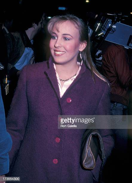 Actress Genie Francis attends the LA Connection Comedy Club's CatWomen of the Moon Live Dubbing Comedy Show on February 25 1983 at the Nuart Theatre...