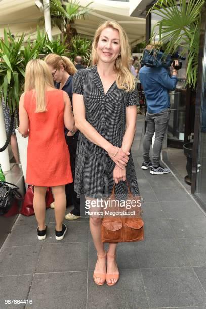 Actress Genija Rykova attends the 'Sommerfest der Agenturen' during Munich Film Festival 2018 at Hugo's on June 30 2018 in Munich Germany
