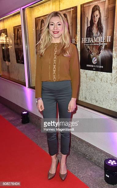 Actress Genija Rykova during the 'Die Hebamme II' Munich Premiere at Gloria Palast on February 3 2016 in Munich Germany
