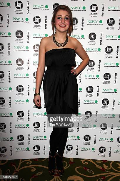 Actress Georgia Groome attends The London Critics' Circle Film Awards 2009 at the Grosvenor House Hotel on February 4 2009 in London England