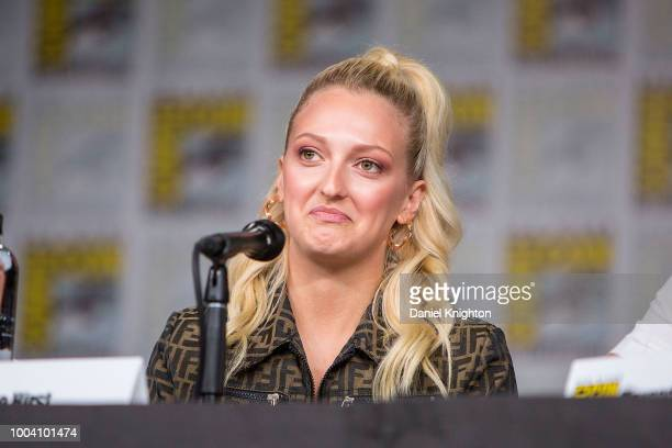 Actress Georgia Hirst attends the Vikings panel at ComicCon International on July 20 2018 in San Diego California