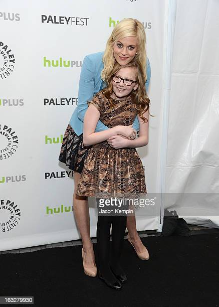 Actress Georgia King and actress Bebe Wood attend the Paley Center For Media's PaleyFest 2013 Honoring 'The New Normal' at Saban Theatre on March 6...