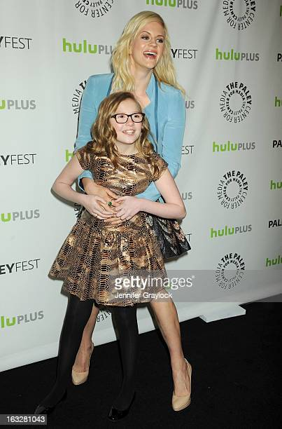 Actress Georgia King and Actress Bebe Wood attends the 30th Annual PaleyFest The William S Paley Television Festival Honors The New Normal held at...
