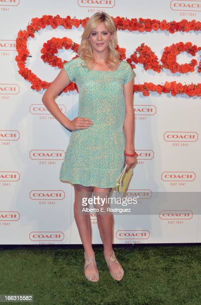 Actress Georgia King attends the 3rd Annual Coach Evening to benefit Children's Defense Fund at Bad Robot on April 10 2013 in Santa Monica California
