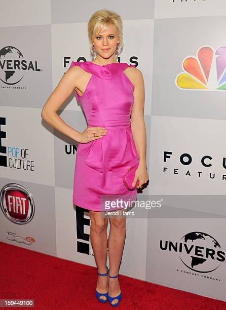 Actress Georgia King attends the NBCUniversal Golden Globes viewing and after party held at The Beverly Hilton Hotel on January 13 2013 in Beverly...