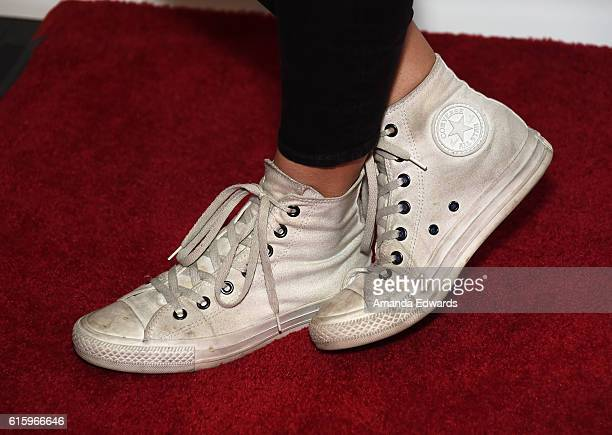 Actress Georgia King shoe detail attends the Young Storytellers' 13th Annual Signature Event at The Novo by Microsoft on October 20 2016 in Los...